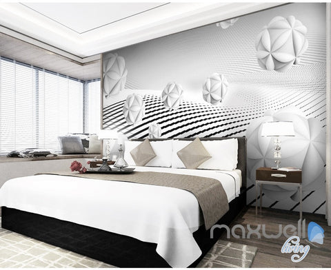 Image of 3D Puzzle Ball 5D Wall Paper Mural Modern Art Print Decals Business Decor IDCWP-3DB-000016
