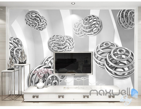 Image of 3D Spin Ball 5D Wall Paper Mural Art Print Decals Modern Bedroom Decor IDCWP-3DB-000022