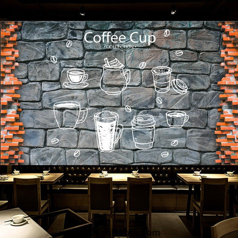 Image of Coffee shop Wallpaper Coffee Club Cafe Wall Murals IDCWP-CF-000002