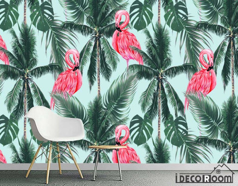 Nordic abstract style flamingo coco decorative wallpaper wall murals IDCWP-HL-000071