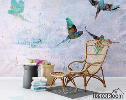 Image of Nordic abstract  bird wallpaper wall murals IDCWP-HL-000090