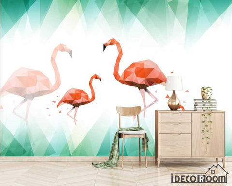 Nordic abstract flamingo wallpaper wall murals IDCWP-HL-000405