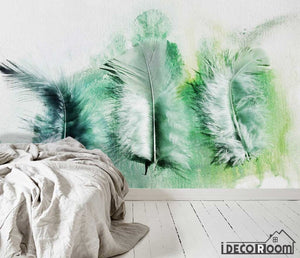Modern minimalist abstract feather Nordic wallpaper wall murals IDCWP-HL-000650