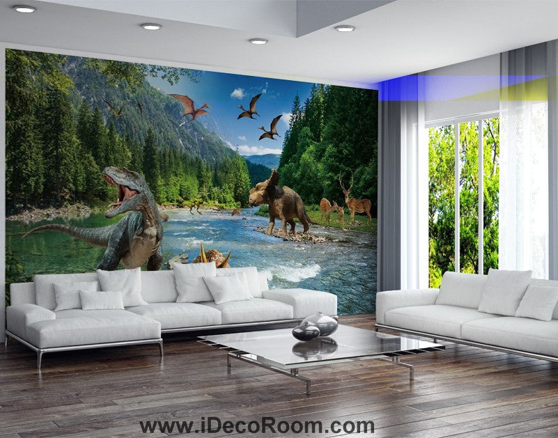 Dinosaur Wallpaper Large Wall Murals for Bedroom Wall Art IDCWP-KL-000128