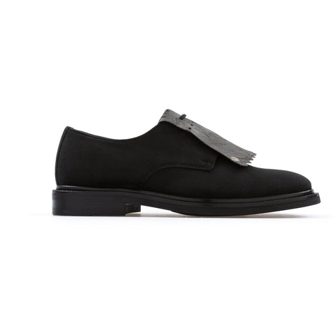 'Daniella'  vegan women's Derby by Bourgeois Boheme - black suede