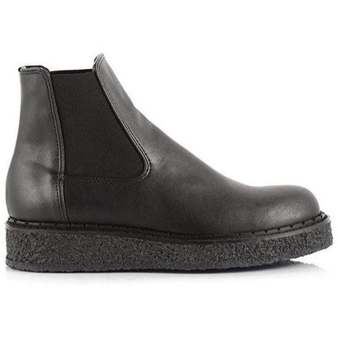 'Alanis' Chelsea vegan boot by Bourgeois Boheme - Black