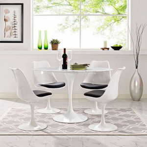 Tulip Style 48 Oval-Shaped Marble Dining Table Free Shipping