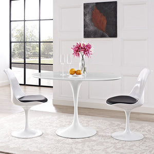 Tulip Style 48 Oval Shaped Dining Table Free Shipping