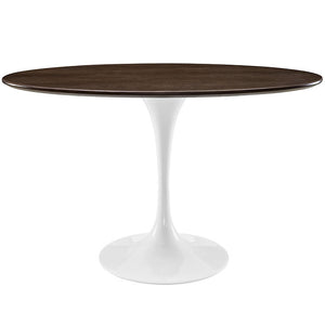 Tulip Style 48 Oval Shaped Walnut Dining Table Free Shipping