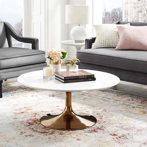 "Tulip Style 36"" Rose Coffee Table"
