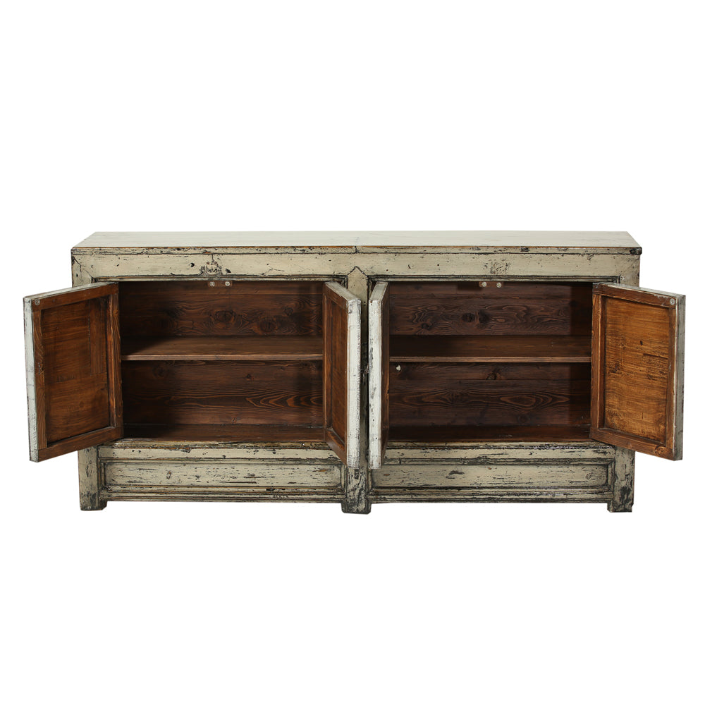Vintage Pale Grey Sideboard from Gansu