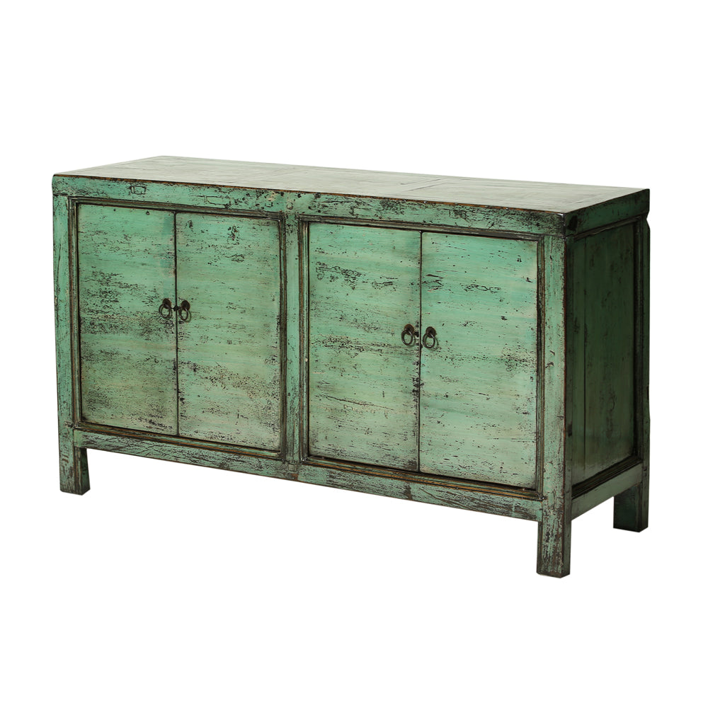 Sea Green Vintage Sideboard from Gansu