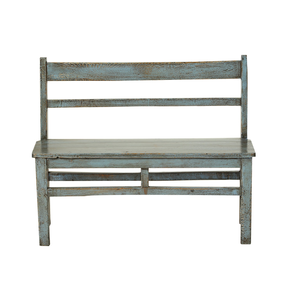 Vintage Poplar Bench Seat from Gansu