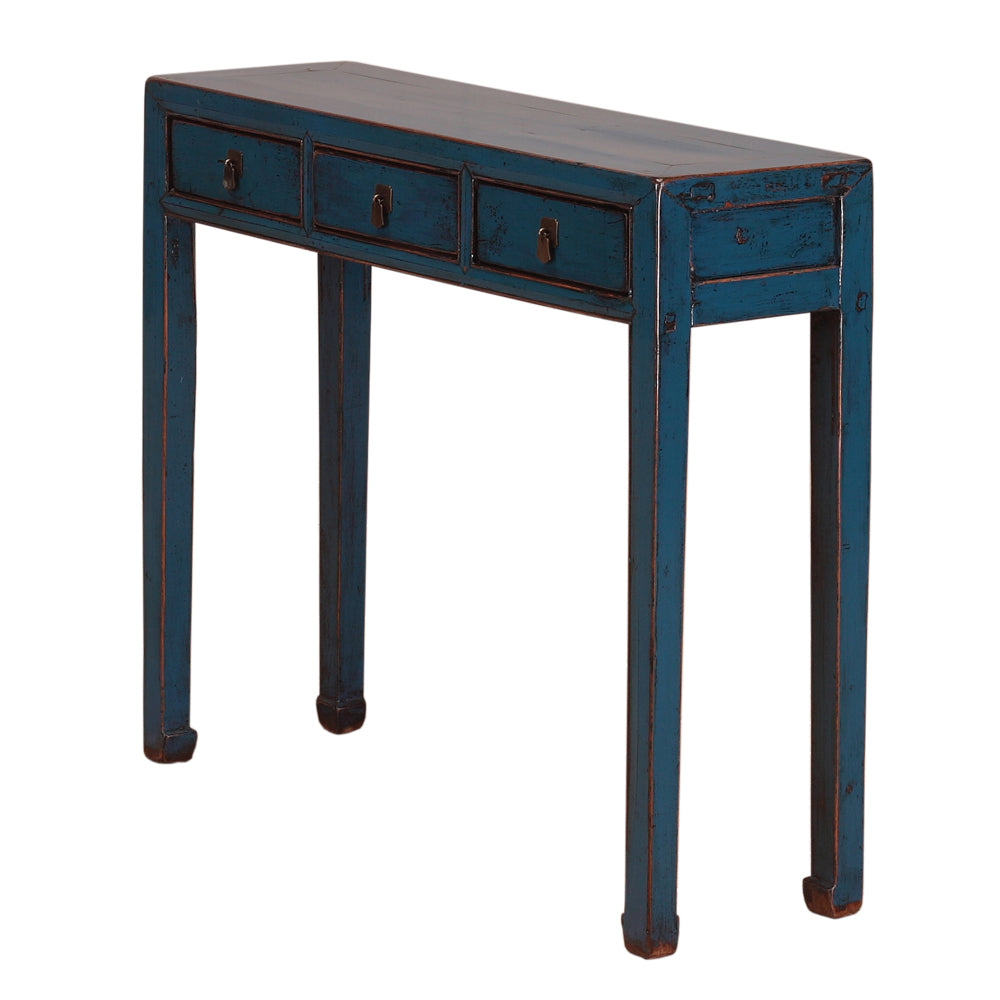 Blue Vintage Chinese Console Table from Shandong - Chinese homewares- Rouge Shop antique stores London - city furniture