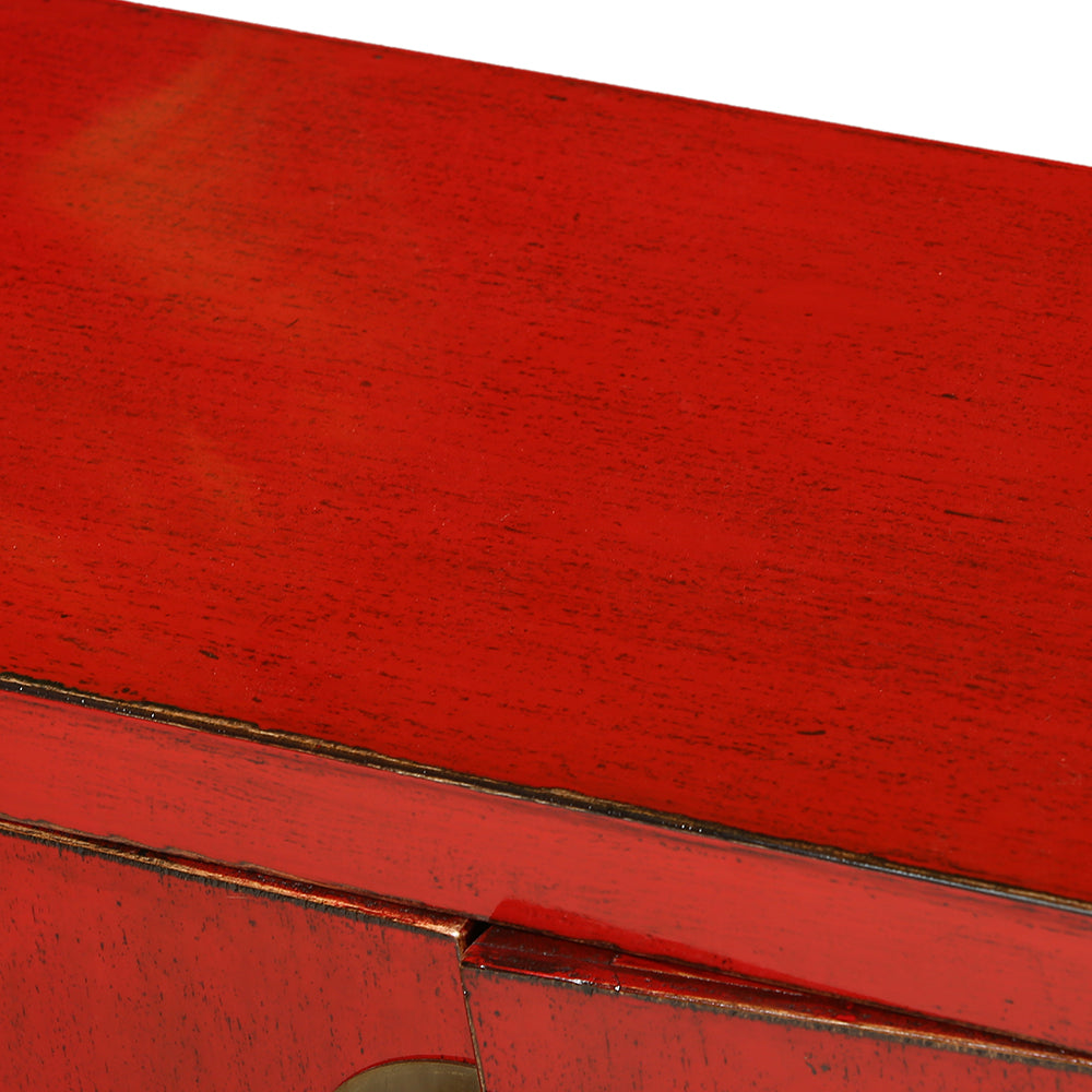 Red Chinese Console Table