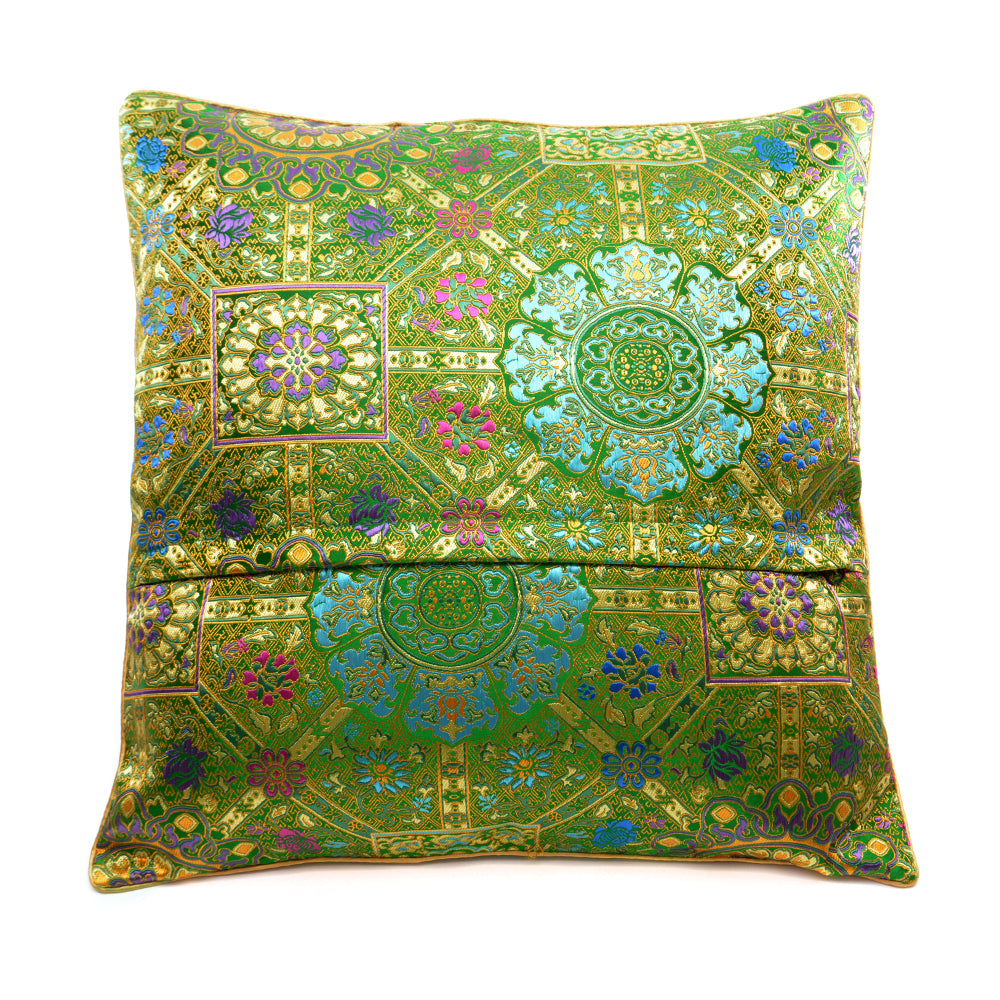 Chinese Cloud Brocade Cushion - Green - Chinese homewares- Rouge Shop antique stores London - city furniture