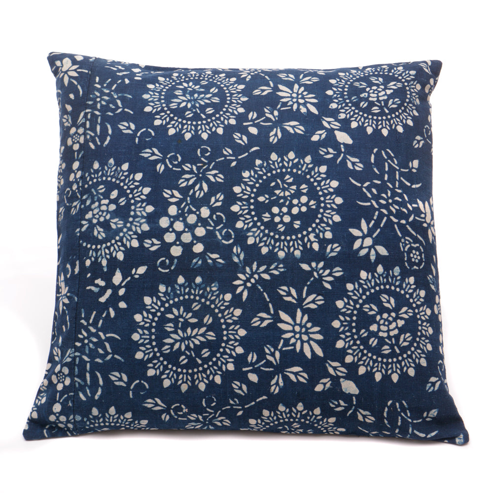Vintage Indigo Handmade Cushion No 9