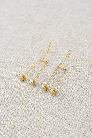 Alla Luxe Twin Ball Earrings