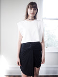 Avery Knot Detail Jersey Skirt-Black - HELLO PARRY Australian Fashion Label