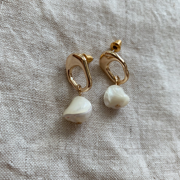 Alexia Gold and Pearl Earrings