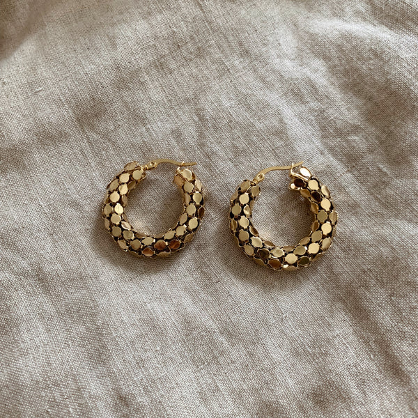 Luna Pebble Hoops Mini