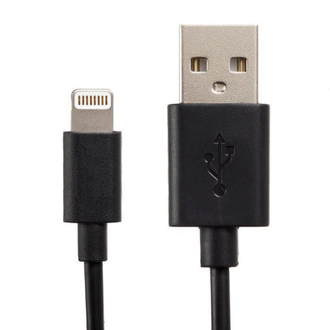 Apple Certified Lightning to USB 2.0 Data Sync and Charge Cable 1m Length (Black) - CreatePros, LLC - 2