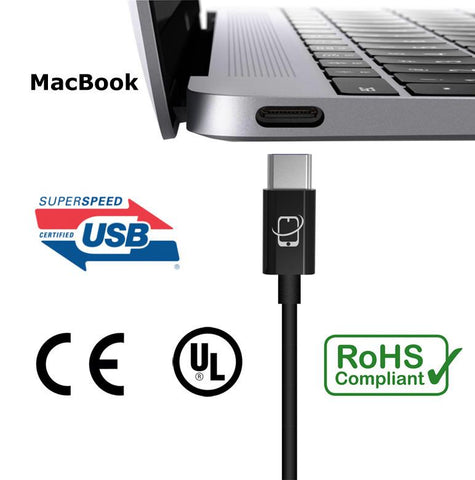 USB Type C to USB Type A Cable - 12 Inch (Black) - CreatePros, LLC - 2