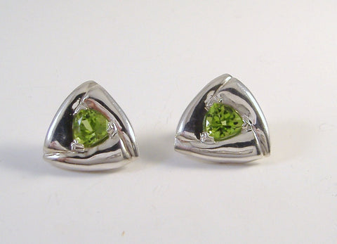Trillion Peridot Earrings SOLD!