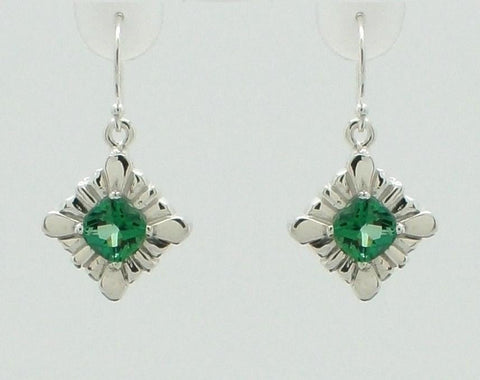 Dazzling Cushion cut gemstone Earrings