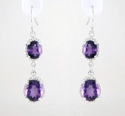 Double Dangle Halo Earrings