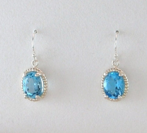 Small Dangle Halo Earrings