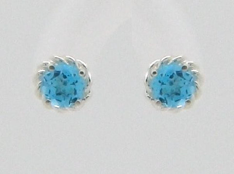 Rope stud earrings