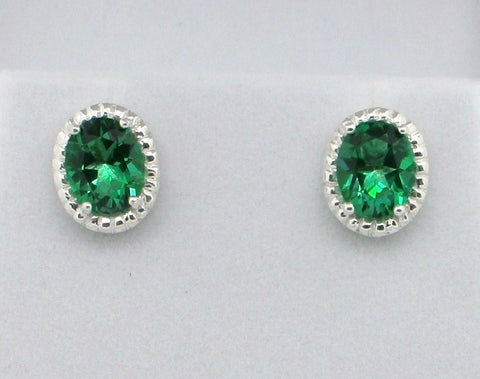 Halo Gemstone Stud Earrings