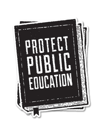 Protect Public Education Sticker - United State of Indiana: Indiana-Made T-Shirts and Gifts