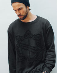 Nemis Towelling Logo Sweater Black Front