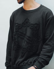 Nemis Towelling Logo Sweater Black