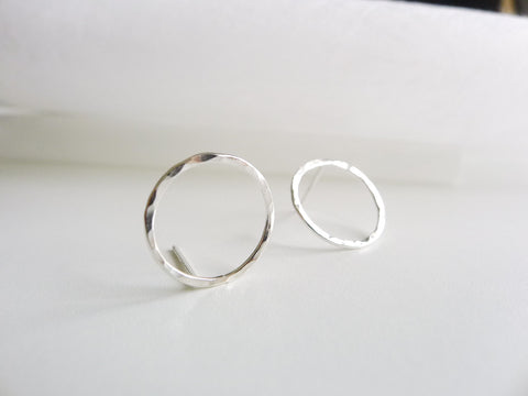 Circle20 Silverstuds-Earrings