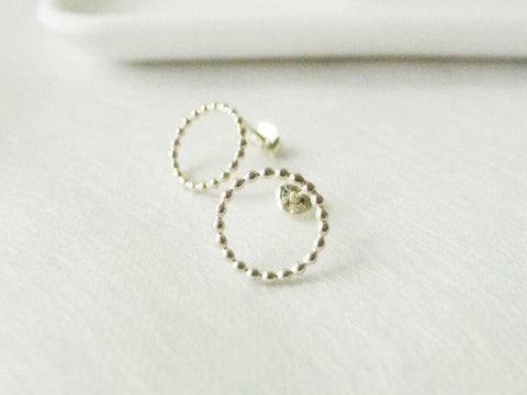 Round beaded silverstuds | 925silver studs | Simple Studs | Post earrings