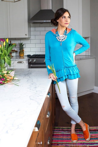 The Emma Ruffle in Turquoise