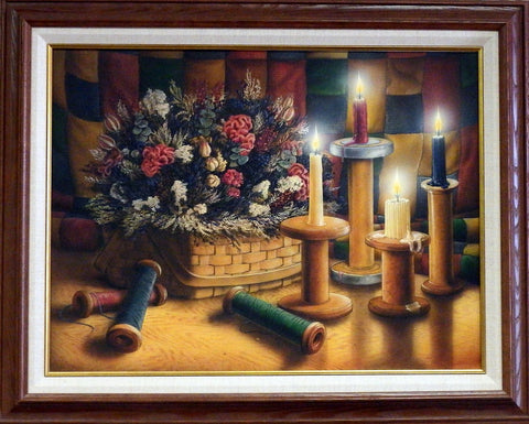 Doug Knutson Original Painting COUNTRY CANDLES