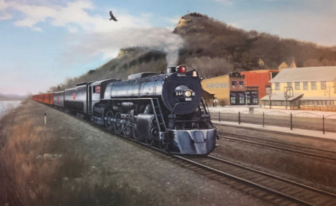 Arthur Anderson The Grand 261 Milwaukee Road Steam Engine Art Print