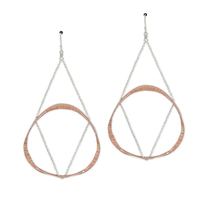 Large Floating Mobius Earrings (E1450) - DanaReedDesigns