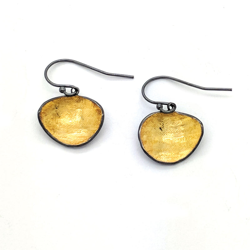 Bi-Metal Bean Earrings (E1643) - DanaReedDesigns