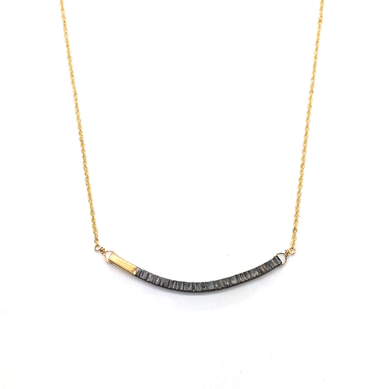 Gold Lined Bar Necklace N1753 - DanaReedDesigns