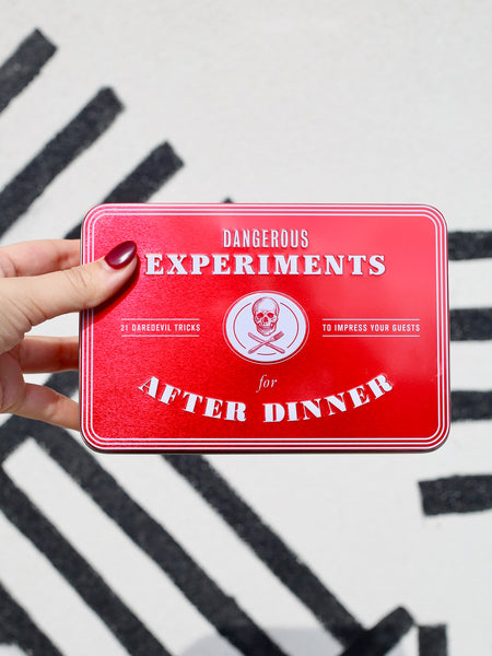 dangerous experiments for after dinner party games hachette