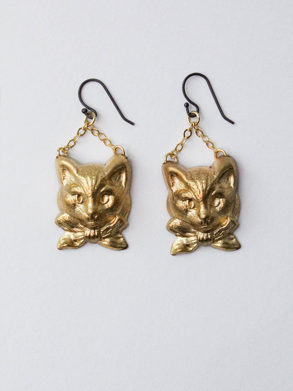 Fancy Creature Earrings: Kitty Wellington