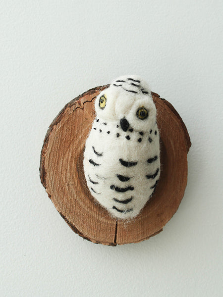 cody foster felted snow owl wall mount
