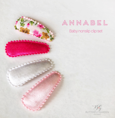 Annabel set of 4 Baby nonslip clips