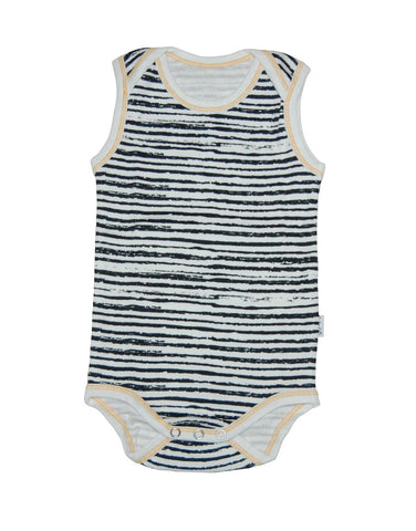 Baby cotton body vest with stripes - Claesens