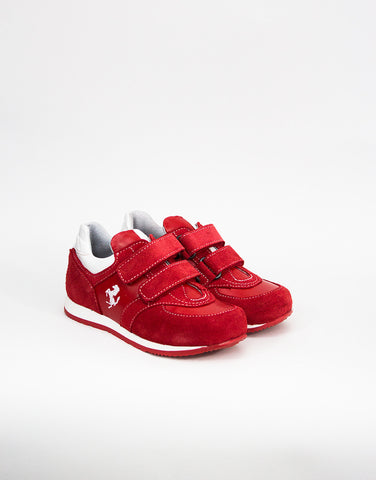 Boys Red Suede Trainers